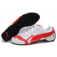 Women's Puma Future Cat Low In White/Red Free Shipping X78ap