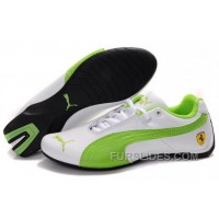 Women's Puma Future Cat GT Ferrari Green/White Discount EBM8crs