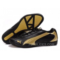 Mens Puma Future Cat In Black/Golden Christmas Deals 78Jans4