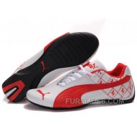 Men's Puma Future Cat In White/Red Online R8Ysx5