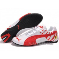 Men's Puma Future Cat In White/Red Authentic RJTY7ax