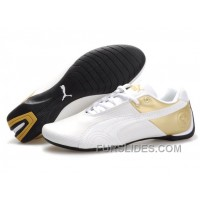Puma Future Cat Remix NT Shoes WhiteGold Christmas Deals Sr6JDAQ