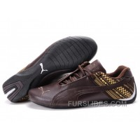 Men's Puma Future Cat In Chocolate/Yellow Cheap To Buy SAKpP6h
