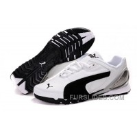 Women's Puma Grit Cat III White/ Black/Gray Super Deals CMG7T