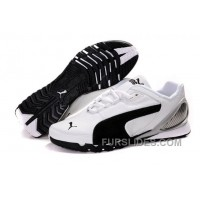 Mens Puma Grit Cat In White/Black Online NXar6D