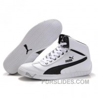 Puma Schumacher Racing High Tops Shoes White Black Lastest Tc3ET2