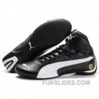 Puma Ferrari Mens High Tops Shoes Black White Online DThWW
