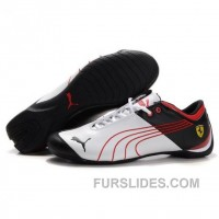 Men's Puma 10th Anniversary Metal Racing Shoes White Red Black Authentic CRicEMT