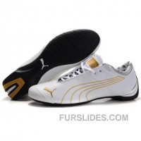 Men's Puma 10th Anniversary Metal Racing Shoes White Golden Top Deals PyWeeSt
