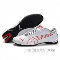 Men's Puma 10th Anniversary Metal Racing Shoes White Red I Super Deals AhYXPKh