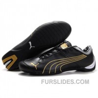 Men's Puma 10th Anniversary Metal Racing Shoes Black Golden Christmas Deals C2hs87A