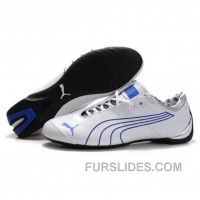 Men's Puma 10th Anniversary Metal Racing Shoes White Blue I Free Shipping JSBYbyA