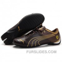 Men's Puma 10th Anniversary Metal Racing Shoes Chocolate Golden Lastest ZrjZyY
