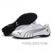 Mens Future Cat GT Ferrari Classic Shoes White Black Authentic M2apnJP