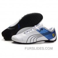 Men's Puma 10th Anniversary Metal Racing Shoes White Blue II For Sale SBMmQQ