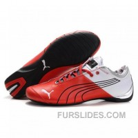 For Sale Men's Puma 10th Anniversary Metal Racing Shoes White Red II AY53Rei