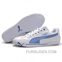 Lastest Women's Puma Michael Schumacher Shoes White Blue EdnBPbA