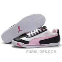 Women's Puma Michael Schumacher Shoes Black White Pink Christmas Deals Zdr8M