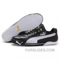 Puma Michael Schumacher Shoes Black White Online ETRXE
