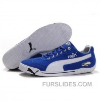 Men's Puma Michael Schumacher Shoes Blue White Discount X584X