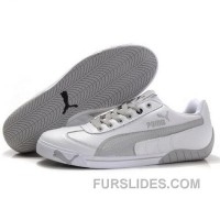 Men's Puma Michael Schumacher Shoes White Grey Super Deals 5jA2tD