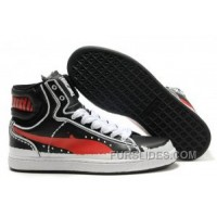 Mens Puma New First Round In Black-Red Lastest Td3KR
