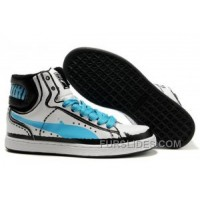 Mens Puma New First Round In White-Black-skyblue Discount HxWx7j
