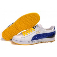 Puma New Style City Series White/Blue/Yellow Lastest XBpiDWT