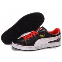 Puma New Style City Series Black/White/Red Authentic ZbXHts