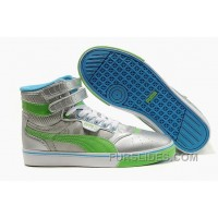 Puma New Style 009 Silver-Green Christmas Deals X6SJB