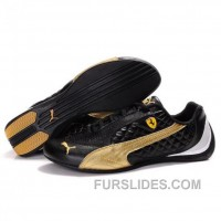Women's Puma SF Pace Cat II In Black-Gold Christmas Deals WcFJY