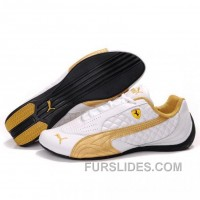 Women's Puma SF Pace Cat II In White-Gold Top Deals 72AywH