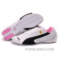 Women's Puma SF Pace Cat II In White-Black-Pink Top Deals Ysm765p
