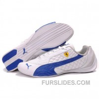 Puma SF Pace Cat II In White-Royal Blue For Sale 2GHefD