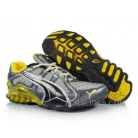 Puma Cell Cerae II Mesh Running Shoes GreyYellow Lastest Hf37XRB