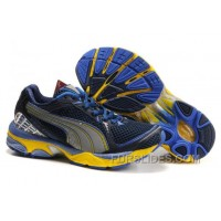 2010 Puma Running Shoes In Blue/Yellow Free Shipping PfwMR