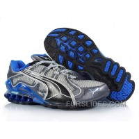 Puma Cell Cerae II Mesh Running Shoes GreyBlue Free Shipping BZXhG