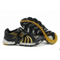 2010 Puma Running Shoes In Black/Gold For Sale PnK2hCK