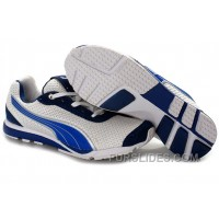 Puma YugoRun Mesh Running Shoes WhiteBlue Discount Nn8ni