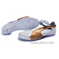 Authentic Women's Puma Speed Princess Baller Sandals White/Gold JSKbR3