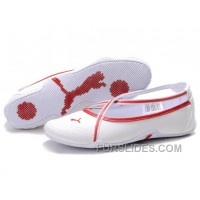 Women's Puma 5 On Behalf Sandals White/Red For Sale ZMmFpeh