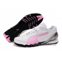 Christmas Deals Puma New Style Grit Cat III Shoes White/Pink Nd2XjyB