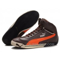 For Sale Puma Schumacher Racing High Tops Shoes Brown/Orange XaBSRc6