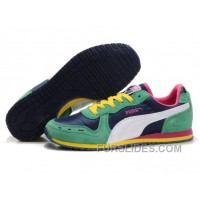 Cheap To Buy Puma Cabana Racer II LX Sneakers Navy/Green/Yellow BEr5Jsb