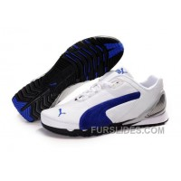 Free Shipping Puma New Style Grit Cat III Shoes White/Blue PY4en