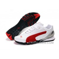 Puma New Style Grit Cat III Shoes White/Red Top Deals RSaDQd