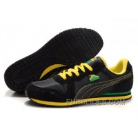 Puma Cabana Racer II LX Sneakers Black/Grey/Yellow Free Shipping EyMtwKk