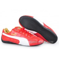 Authentic Puma Speed Cat Leather Shoes Red/White 3zwEtms