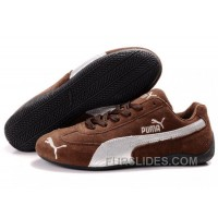 Authentic Puma Speed Cat SD Shoes Brown/Silver T2zHdd