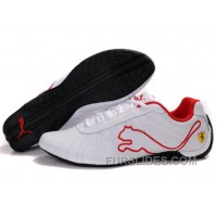 Women's Puma Speed Cat Big White/Red Online HhTZp